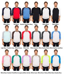 American Apparel 3/4 Sleeve Raglan Shirt