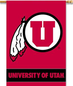 "COLLEGIATE Utah 2-Sided 28"" x 40"" Banner"