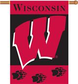 "COLLEGIATE Wisconsin 2-Sided 28"" x 40"" Banner"