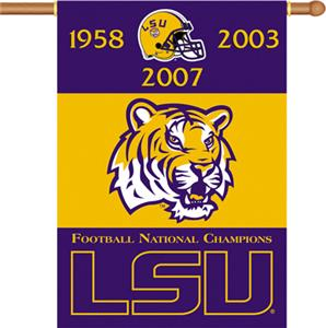 "COLLEGIATE LSU Champ 2-Sided 28"" x 40"" Banner"