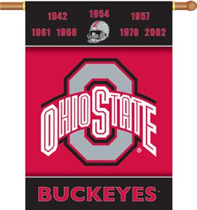 "COLLEGIATE Ohio St. Champ 2-Sided 28"" x 40"" Banner"