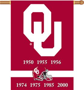 "COLLEGIATE Oklahoma Champ 2-Sided 28"" x 40"" Banner"