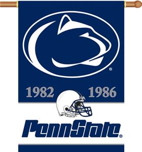 "COLLEGIATE Penn St. Champ 2-Sided 28"" x 40"" Banner"