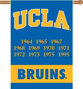 "COLLEGIATE UCLA Champ 2-Sided 28"" x 40"" Banner"