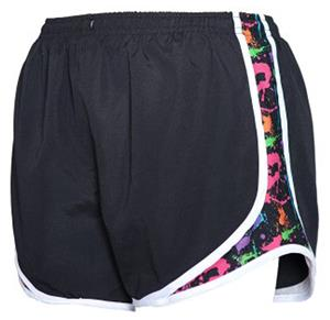 Womens Novelty Velocity Splatter Print Shorts