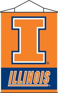 COLLEGIATE Illinois Indoor Banner Scroll
