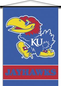 COLLEGIATE Kansas Indoor Banner Scroll