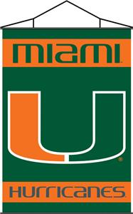 COLLEGIATE Miami Indoor Banner Scroll