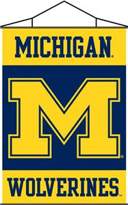 COLLEGIATE Michigan Indoor Banner Scroll