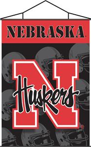 COLLEGIATE Nebraska Indoor Banner Scroll