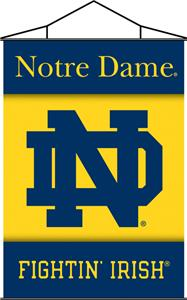 COLLEGIATE Notre Dame Indoor Banner Scroll