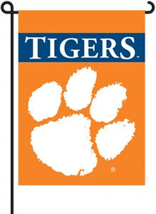 COLLEGIATE Clemson 2-Sided 13&quot; x 18&quot; Garden Flag