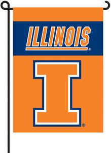 "COLLEGIATE Illinois 2-Sided 13"" x 18"" Garden Flag"