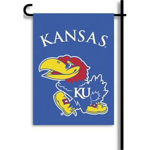 "COLLEGIATE Kansas 2-Sided 13"" x 18"" Garden Flag"