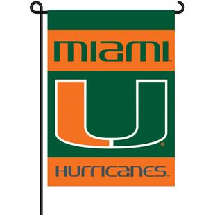 "COLLEGIATE Miami 2-Sided 13"" x 18"" Garden Flag"