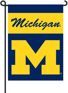 COLLEGIATE Michigan 2-Sided 13&quot; x 18&quot; Garden Flag