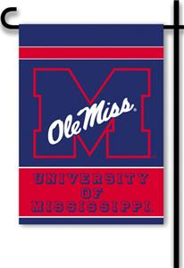 "COLLEGIATE Ole Miss 2-Sided 13"" x 18"" Garden Flag"