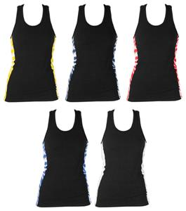 Girls Side Accent Racer Practice Tank Tops