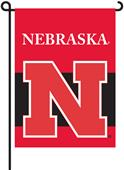 "COLLEGIATE Nebraska 2-Sided 13"" x 18"" Garden Flag"