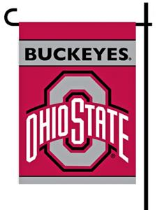 COLLEGIATE Ohio St. 2-Sided 13&quot; x 18&quot; Garden Flag