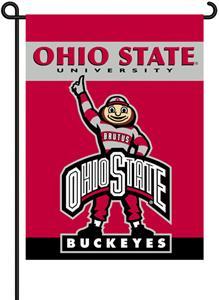 """COLLEGIATE Ohio St. Brutus 13"""" x 18"""" Garden Flag"""