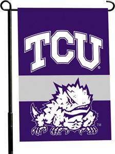 "COLLEGIATE TCU 2-Sided 13"" x 18"" Garden Flag"