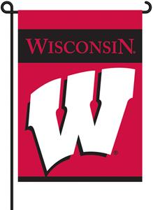"COLLEGIATE Wisconsin 2-Sided 13"" x 18"" Garden Flag"