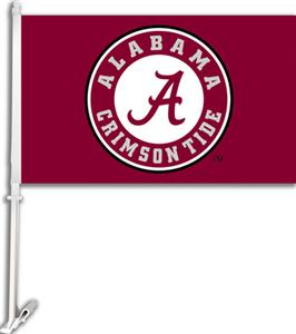 "COLLEGIATE Alabama Circle ""A"" 11"" x 18"" Car Flag"