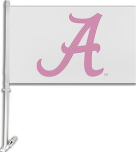 "COLLEGIATE Alabama Pink ""A"" 11"" x 18"" Car Flag"