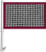 "COLLEGIATE Houndstooth Pattern 11"" x 18"" Car Flag"