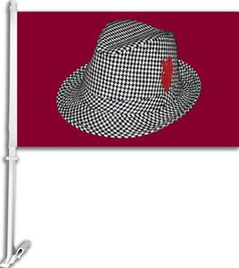 "COLLEGIATE Houndstooth Hat 11"" x 18"" Car Flag"