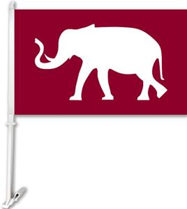 "COLLEGIATE Elephant 2-Sided 11"" x 18"" Car Flag"