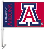 "COLLEGIATE Arizona 2-Sided 11"" x 18"" Car Flag"