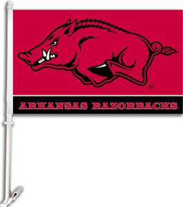 "COLLEGIATE Arkansas 2-Sided 11"" x 18"" Car Flag"