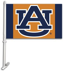 COLLEGIATE Auburn &quot;AU&quot; Orange 11&quot; x 18&quot; Car Flag