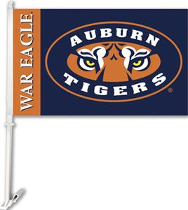 "COLLEGIATE Auburn Tiger Eyes 11"" x 18"" Car Flag"