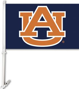 "COLLEGIATE Auburn ""AU"" on Navy 11"" x 18"" Car Flag"