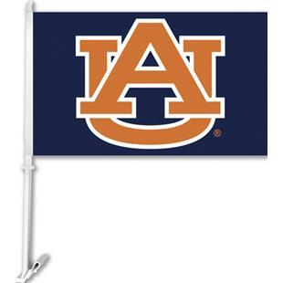 """COLLEGIATE Auburn """"AU"""" on Navy 11"""" x 18"""" Car Flag"""