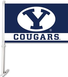 "COLLEGIATE Brigham Young 11"" x 18"" Car Flag"