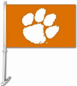 """Collegiate Clemson 11"""" x 18"""" Car Flag"""