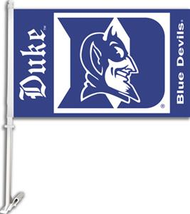 "COLLEGIATE Duke 2-Sided 11"" x 18"" Car Flag"