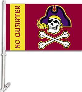 "COLLEGIATE E. Carolina 2-Sided 11"" x 18"" Car Flag"