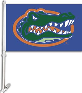 "COLLEGIATE Florida on Blue 11"" x 18"" Car Flag"