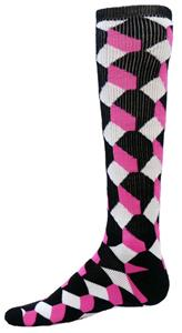 Red Lion Black/Pink/White Cube Athletic Socks
