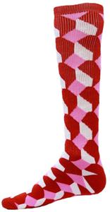 Red Lion Red/Pink/White Cube Athletic Socks