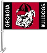 "COLLEGIATE Georgia Bulldog 11"" x 18"" Car Flag"