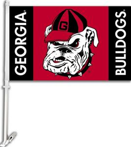 COLLEGIATE Georgia Bulldog 11&quot; x 18&quot; Car Flag