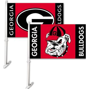 "COLLEGIATE Georgia Combo 11"" x 18"" Car Flag"