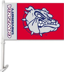 COLLEGIATE Gonzaga 2-Sided 11&quot; x 18&quot; Car Flag