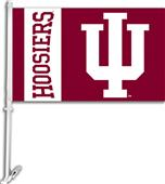 "COLLEGIATE Indiana 2-Sided 11"" x 18"" Car Flag"